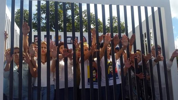 Una de las protestas que piden la liberación de los presos políticos