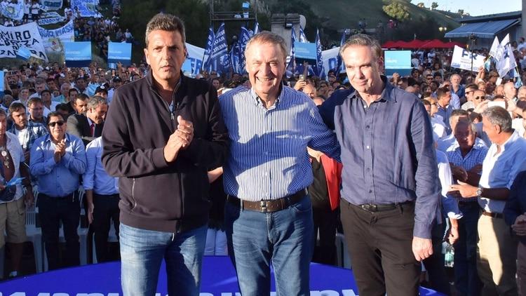 Sergio Massa, Juan Schiaretti y Miguel Ángel Pichetto (NA)