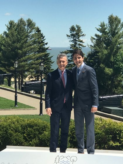 Macri junto a Trudeau (Presidencia)