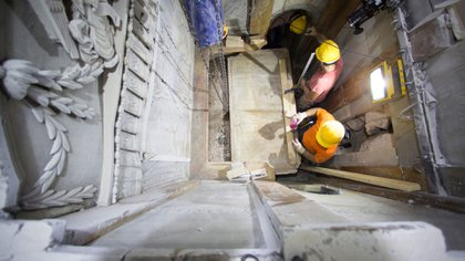 Abrieron la tumba señalada por los cristianos como la de Cristo para realizar obras de restauración (AP)