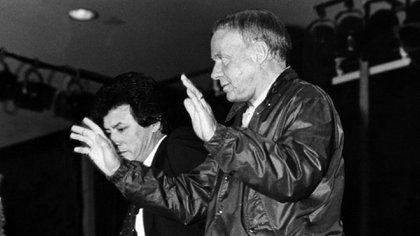 Frank Sinatra y Palito Ortega (Prensa Penguin Random House)