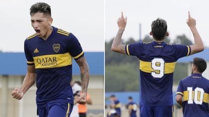 El 9 de la Reserva de Boca está intratable: lleva 4 goles en dos partidos (Twitter: @BocaJrsOficial)