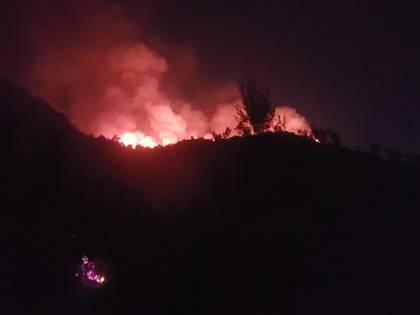 El fuego no representó ningún riesgo para la población ni su patrimonio durante las siete horas que duró. (Foto: Twitter @Bomberos_CDMX)