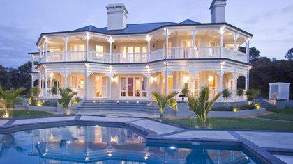 La mansión Blue Roof que el dictador consiguió conservar, entre tantas cosas de lujo y beneficios pagados por el estado