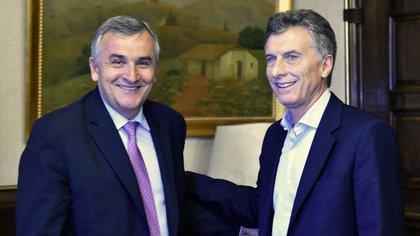 Gerardo Morales y Mauricio Macri. El gobernador radical logró la reelección en Jujuy y presiona por la ampliación de Cambiemos