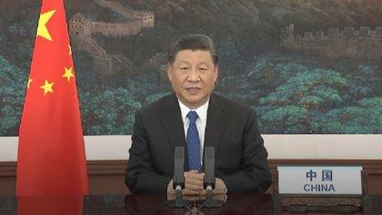Xi Jinping, en su discurso por teleconferencia