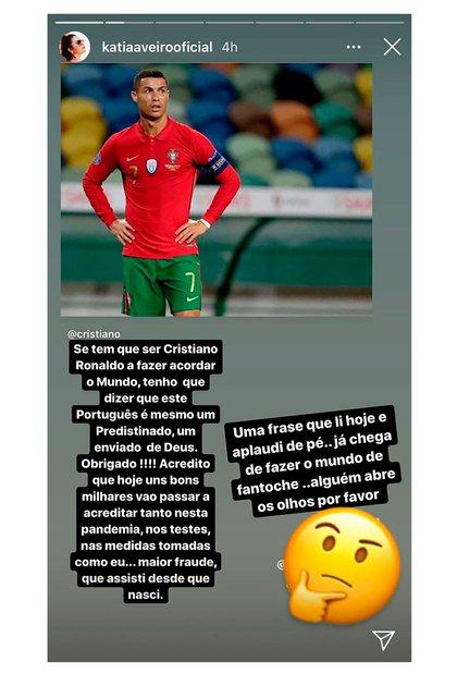El polémico mensaje de Katia Aveiro, hermana de Cristiano Ronaldo