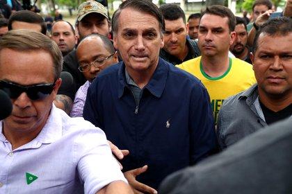 Bolsonaro le sacó una amplia diferencia a Fernando Haddad(Reuters/ Pilar Olivares)