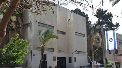 El edificio en el centro de Tel Aviv donde se proclamó la independencia de Israel en 1948, hoy convertido en museo.