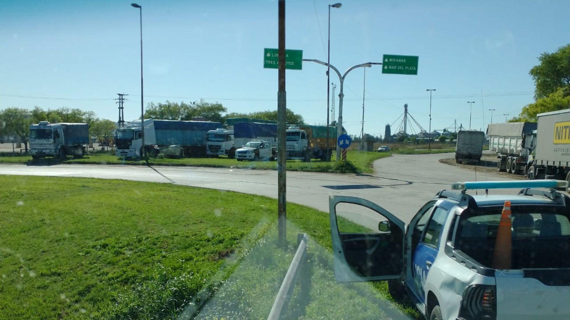 transportistas corte Quequén