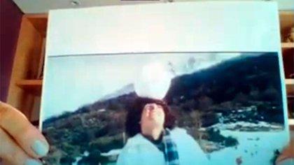 La senadora García Larraburu mostró una foto de Maradona en Bariloche