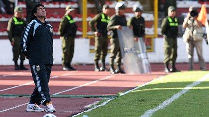 Una de las derrotas más dolorosas de la selección argentina: 6-1 contra Bolivia en La Paz en 2009 (Foto Baires)
