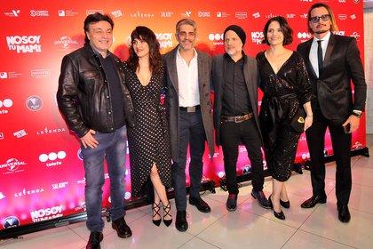 Marcos Carnevale, Julieta Díaz, Pablo Echarri, Sebastián Wainraich, Celina Font y Christian Sancho (Verónica Guerman / Teleshow)