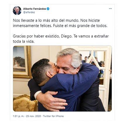 El saludo de Alberto Fernández