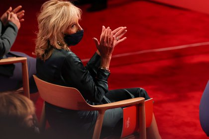 Jill Biden durante el debate del martes.  REUTERS / Jonathan Ernst