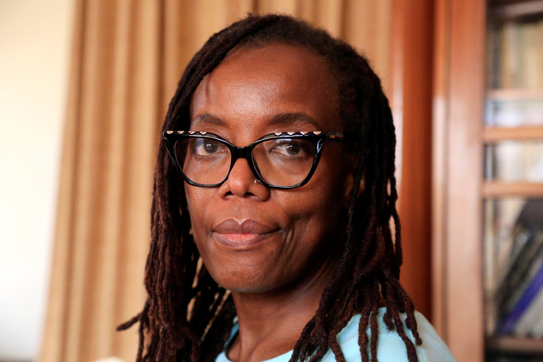 Tsitsi Dangarembga fue arrestada en 2020 durante las protestas en Harare contra la corrupción y la falta de derechos civiles en Zimbabwe. (EFE/Aaron Ufumeli)