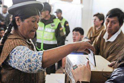 Imagen de las elecciones de octubre en Bolivia (JORGE BERNAL / AFP)