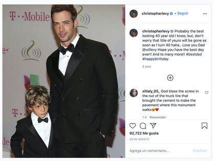 Christopher Levy supuestamente les comunicó a sus padres que estaba considerando seguir sus pasos como actor.  (Foto: Instagram @ christopherlevy)