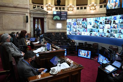 El Senado sancionó la ley de teletrabajo, con 40 votos afirmativos y 30 negativos (Celeste Salguero / Comunicación Senado).