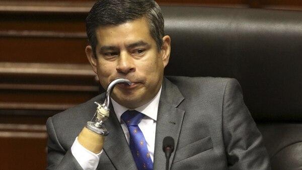 Luis Galarreta, presidente del Congreso de Perú (Reuters)