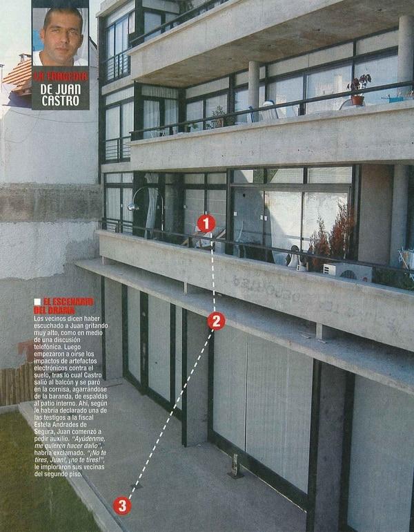 El balcón de la tragedia (Foto: Revista Paparazzi)