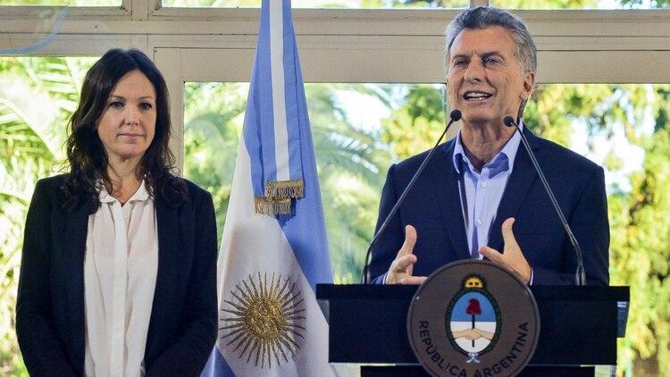 Stanley junto al presidente Macri, a comienzos de año (Foto: NA)