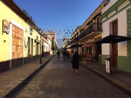 San Cristóbal de las Casas. Chiapas en cuarentena por coronavirus. Foto: twitter @Osiris_Aquino