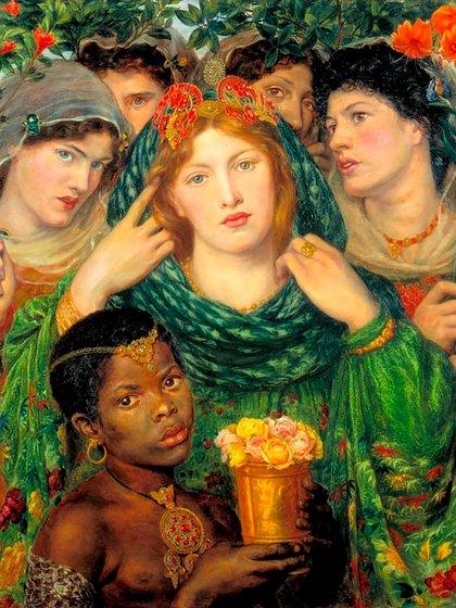 """""""La Bienamada"""" (1866), de Dante Gabriel Rossetti. Oleo sobre lienzo (80 x 76 cm), en la Tate Gallery, RU"""