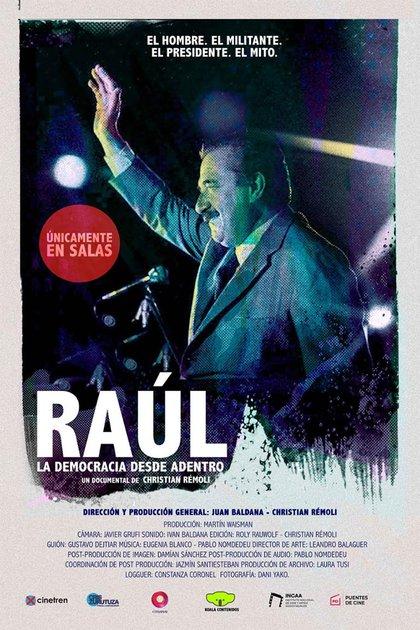 """Póster de """"Raúl"""", la película sobre Alfonsín"""