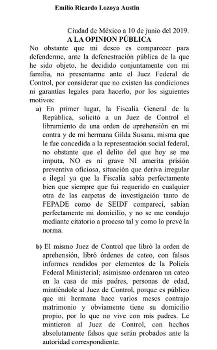 El ex funcionario de Pemex publicó una carta en redes sociales en la que explica sus motivos (Foto: Twitter)