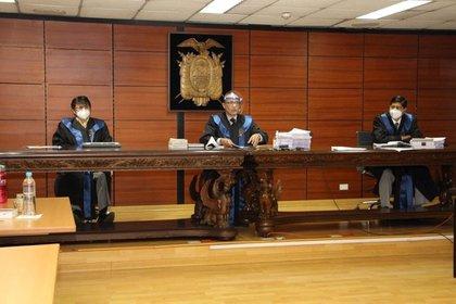 La Corte Nacional de Justicia de Ecuador anunció este lunes su decisión sobre el recurso de apelación del expresidente Rafael Correa sobre la sentencia por corrupción en su contra.  Foto: EFE / Corte Nacional de Justicia