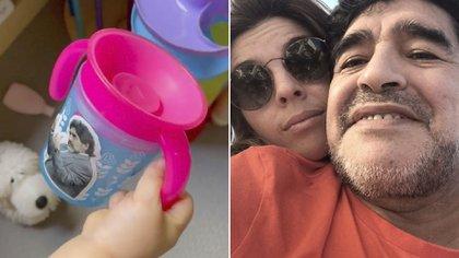 Dalma y su hija recuerdan al Diez (Foto: Instagram @dalmaradona)