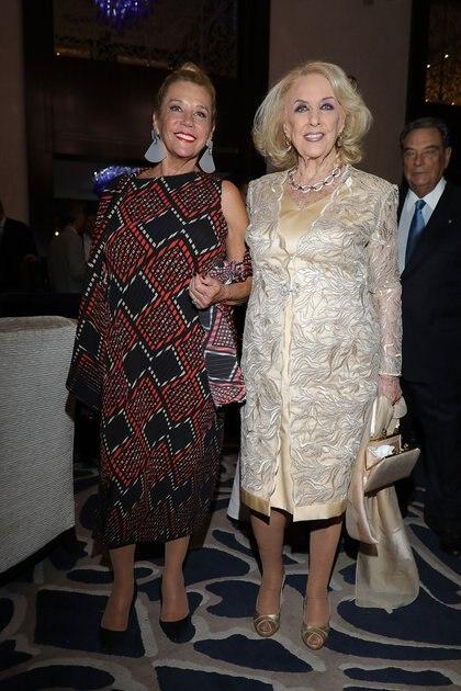 Marcela Tinayre y Mirtha Legrand fueron parte de la recepción