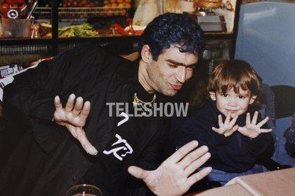 Ramiro, con tan solo tres años, ya imitaba a su padre (Sergio Lapietra/Teleshow)