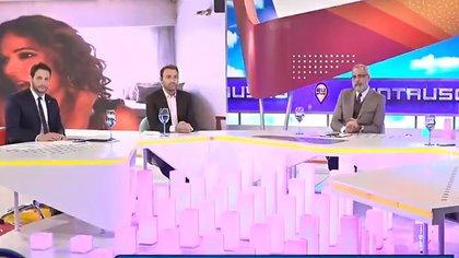 Jorge Rial junto a Adrián pallares y Rodrigo Lussich