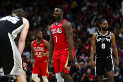Zion debutó en enero de este año ante San Antonio Spurs (Foto: Reuters)