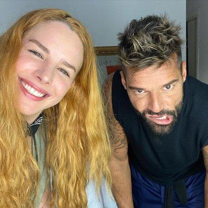Matteo, Valentino y Lucía, tres de los cuatro hijos de Ricky Martin, han sido relacionados con la actriz venezolana (Foto: Instagram@eglantinazingg)