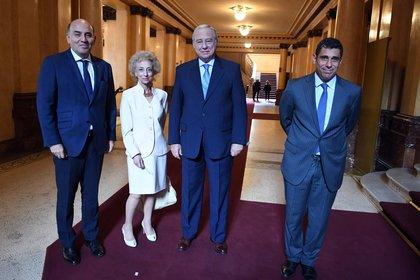 Los jueces Diego Barroetaveña, Liliana Catucci, Eduardo Riggi y Daniel Petrone