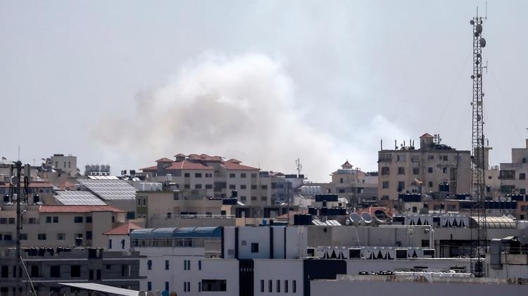 Israel respondió a los bombardeos (Photo by MAHMUD HAMS / AFP)