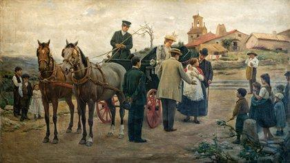 """""""El precio de una madre, a mejorar la raza"""" (1893), del pintor Marceliano Santa María Sedano"""