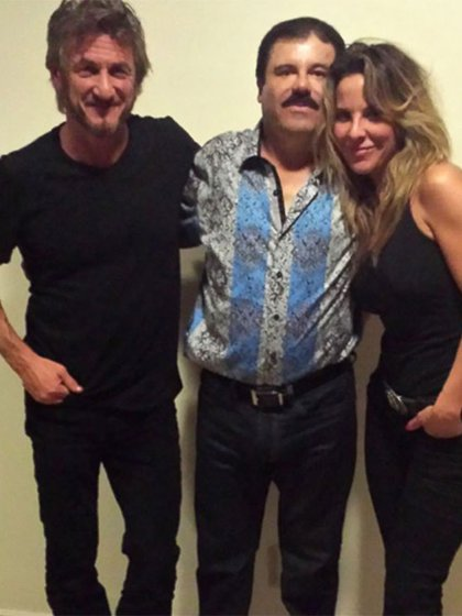 """Sean Penn, """"El Chapo"""" y Kate del Castillo se reunieron en México en octubre de 2015."""
