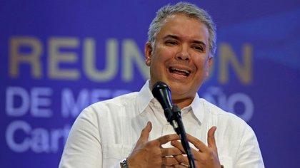 El presidente de Colombia, Iván Duque (EFE/ Ricardo Maldonado Rozo)