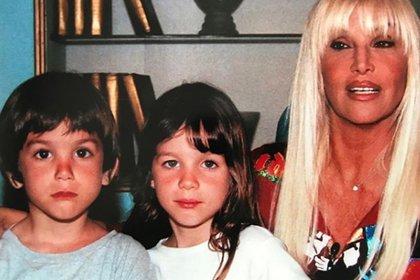 Susana Giménez y sus nietos Manuel y Lucía (Instagram)