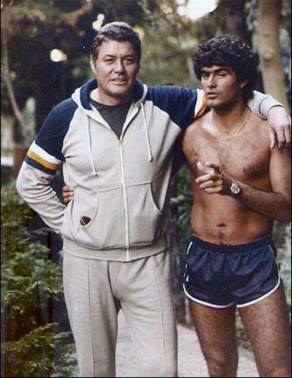 Guy Williams con Saúl Lisazo, hermano de Araceli, que los visitó cuando vivían en Marina del Rey, Los Ángeles