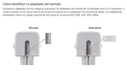 Los adaptadores de Apple, con riesgo de electrocución  162