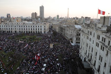 Protests in Lima, against the removal of Vizcarra