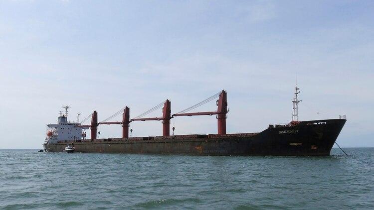 Una foto del carguero Wise Honest publicada por el Departamento de Justicia (Department of Justice via AP)