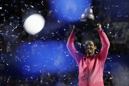 Nadal suma un título en este 2020: el ATP 500 de Acapulco (AP Photo/Rebecca Blackwell)
