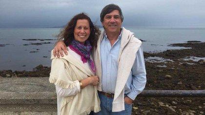 Con su esposo Gustavo