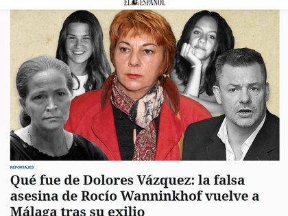 Así mostró la prensa española a Dolores Vázquez, la falsa asesina acusada de un crimen que no cometió